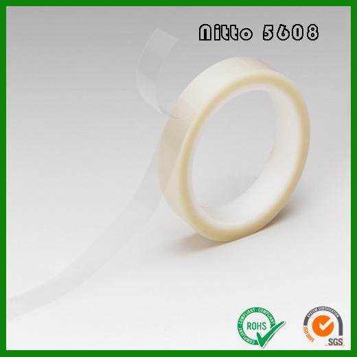 日东5608透明PET双面胶带|Nitto No.5608聚脂薄膜基材0.08mm厚度双面胶