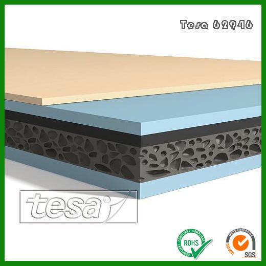 德莎62946黑色PET增强膜泡棉胶带_Tesa62946高性能泡棉双面胶