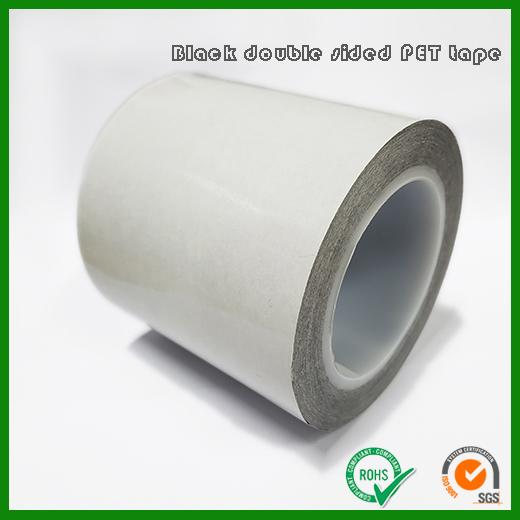 黑色遮光高粘PET胶带 | 0.05mm厚度高级应用使用PET双面胶带